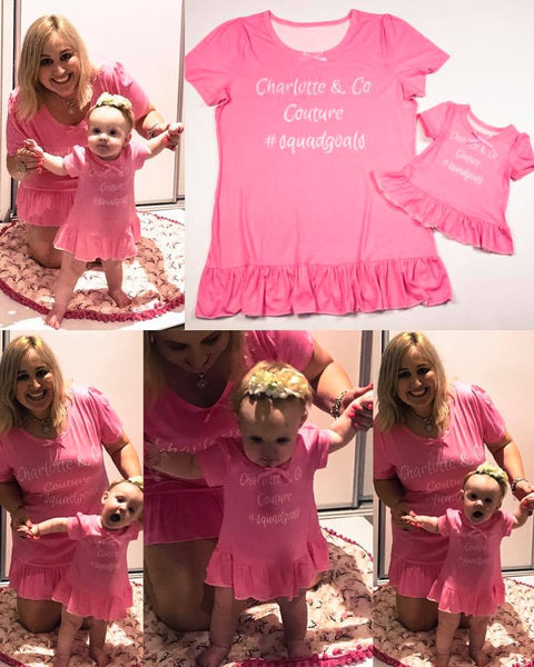 Mummy & Me Matching Mini Dress - Mummy Sizes