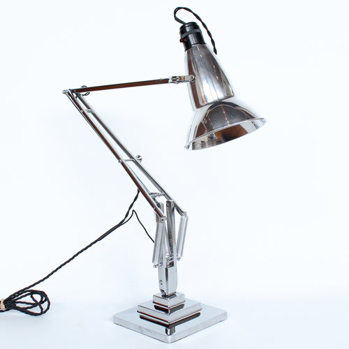 Art Deco three step anglepoise lamp by Herbert Terry & Sons at Jeroen Markies