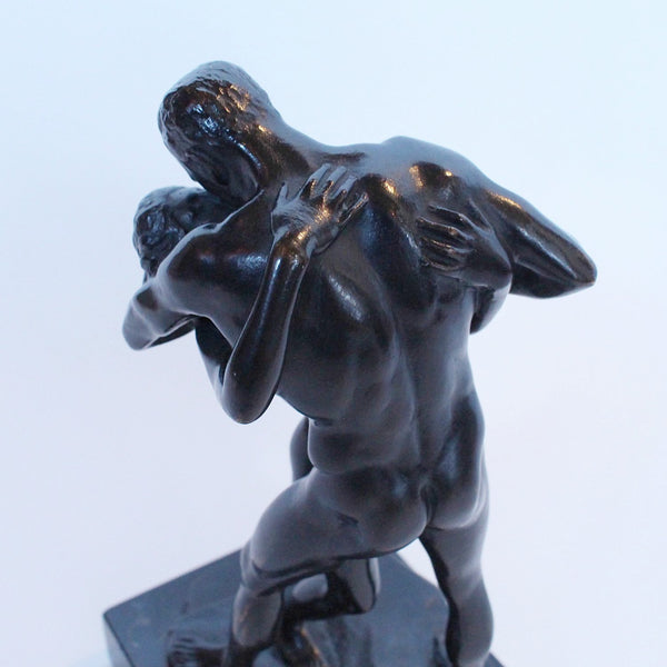 Art Nouveau Patinated Bronze Figure at Jeroen Markies