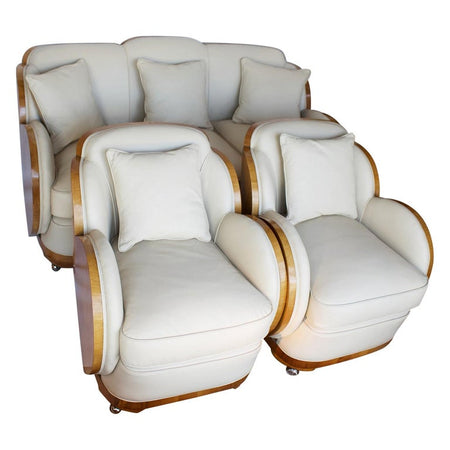 Art Deco Three Piece Cloud Suite