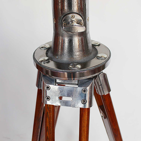 Art Deco Nikon binoculars 20x120 on wooden stand at Jeroen Markies