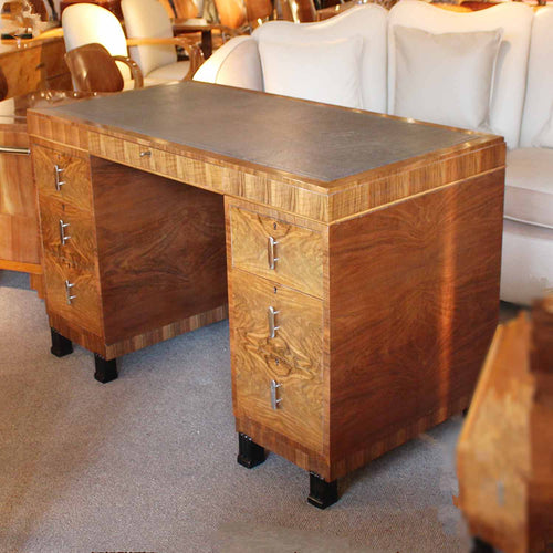 Waring & Gillow Art Deco leather topped desk