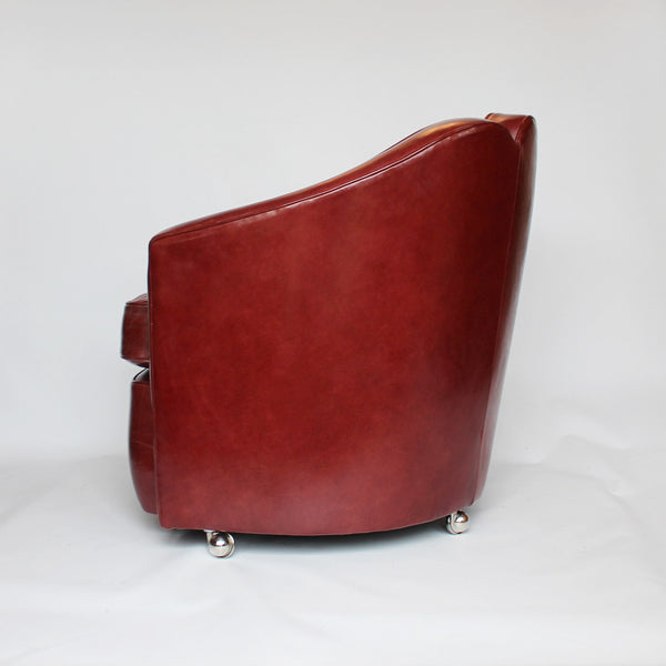 Art Deco leather armchairs