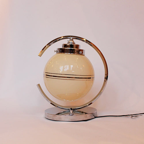 Art Deco table lamp with glass shade
