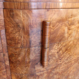 Art Deco sideboard in figured burr walnut circa 1930