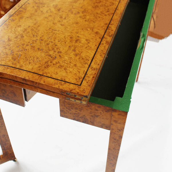 Regency card table in pollard oak at Jeroen Markies