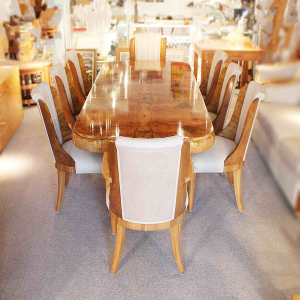 Hille designed Art Deco 8 seat dining table and chairs circa 1930