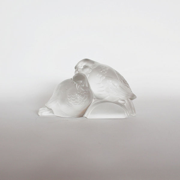 Ferjac Art Deco moulded glass birds at Jeroen Markies