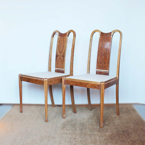 Art Deco side chairs by Maple & Co at Jeroen Markies