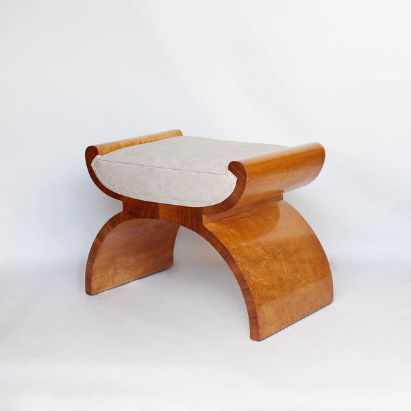 Art Deco x-frame stool by Harry & Lou Epstein at Jeroen Markies