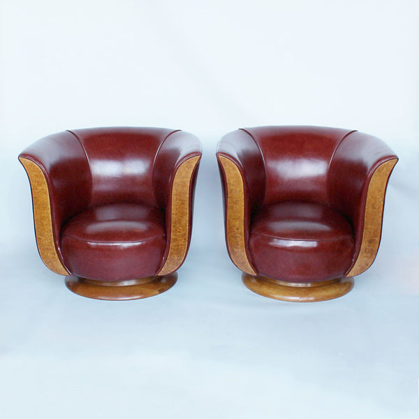 French Art Deco tulip chairs circa 1930