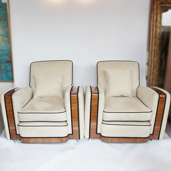 Art Deco streamline armchairs furniture at Jeroen Markies
