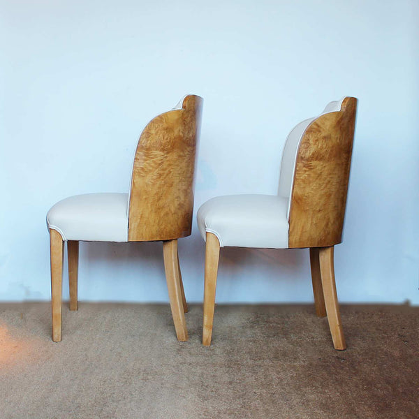 A pair of Art Deco cloud back chairs by Harry & Lou Epstein