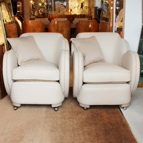 A pair of Art Deco cloud chairs by Harry & Lou Epstein at Jeroen Markies