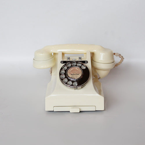 GPO bakelite 1950s telephone in cream at Jeroen Markies