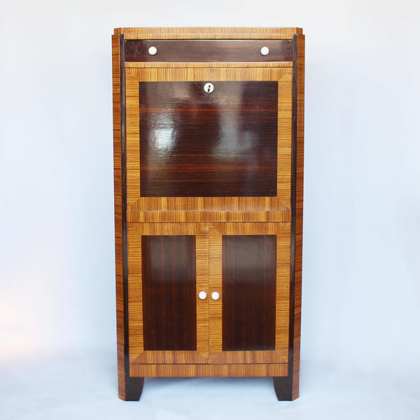 Art Deco writing cabinet in macassar ebony at Jeroen Markies
