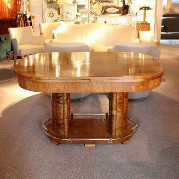 Louis Sognot Art Deco extending table at Jeroen Markies