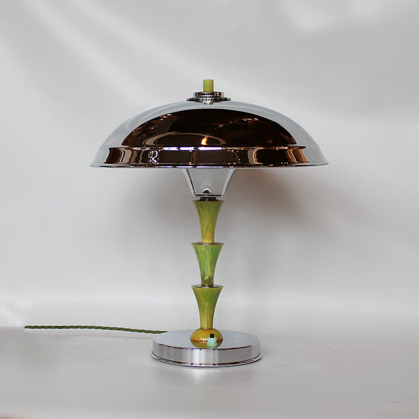 Art Deco Green bakelite Desk Lamp