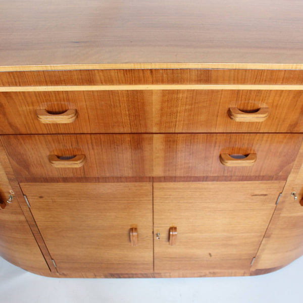 Art Deco sideboard in walnut and satin birch circa 1930 at Jeroen Markies