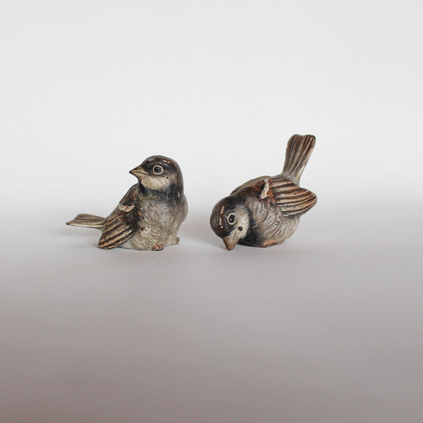 Art Deco small  bronze wrens at Jeroen Markies