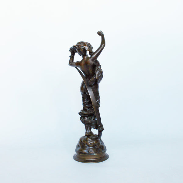 Art Nouveau romantic bronze sculpture circa 1890