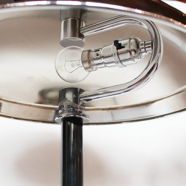 Art Deco dome lamps with black stem at Jeroen Markies