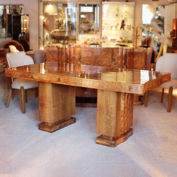 Epstein Art Deco dining suite with six chairs circa 1930 at Jeroen Markies