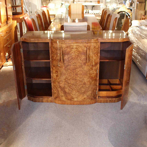 Art Deco sideboard in figured walnut circa 1930