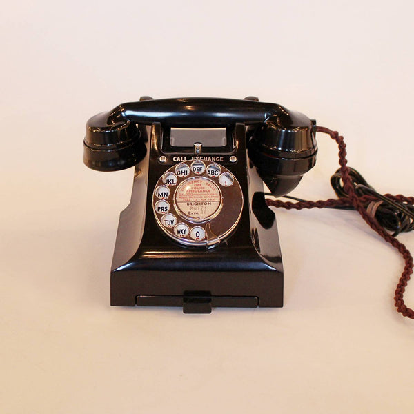 Art Deco black bakelite telephone