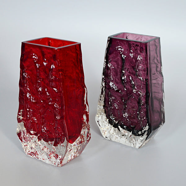 Collection of Fourteen Textured 'Coffin' Bark Vases