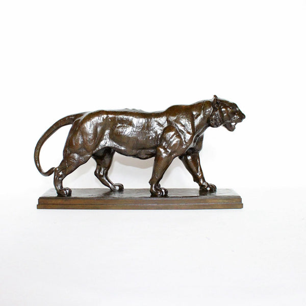 Antoine Louis Barye Walking Lion and Walking Tiger circa 1870 at Jeroen Markies