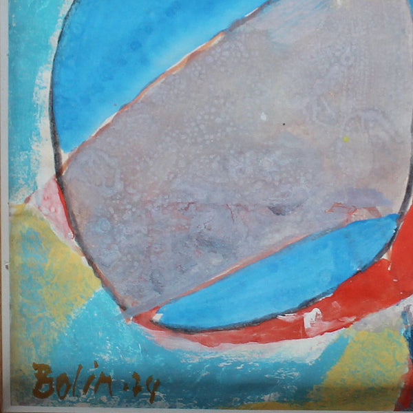 Gustave Bolin untitled abstract painting dated 1974 at Jeroen Markies