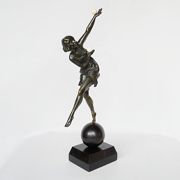 Marcel Bouraine Balancing Act Bronze Art Deco Sculpture Jeroen Markies Art Deco