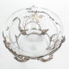 Silvered Bronze Glass Dish