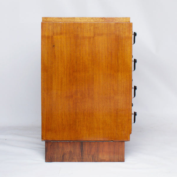 Art Deco Figured and Burr Walnut Chest of Drawers Jeroen Markies Art Deco