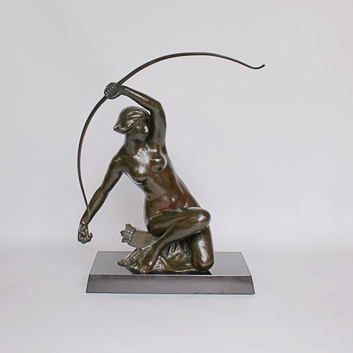 Art Nouveau Bronze sculpture of Diana