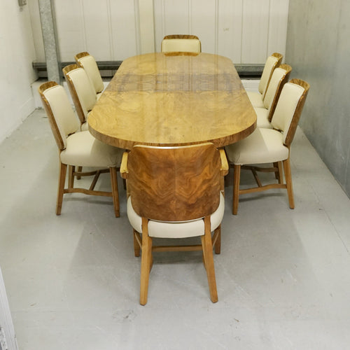 Art Deco Eight Seat Dining Suite