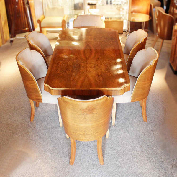 Art Deco 6 seat dining suite by Harry & Lou Epstein circa 1930 at Jeroen Markies