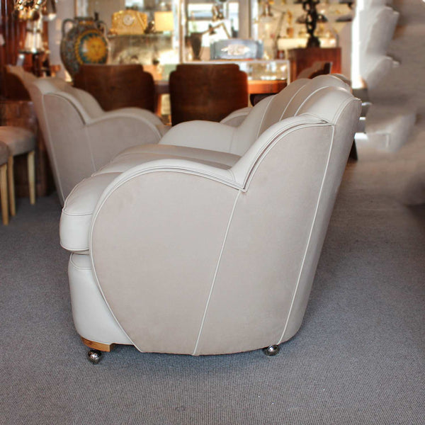 Epstein Art Deco three piece cloud suite sofa and two armchairs circa 1930 at Jeroen Markies
