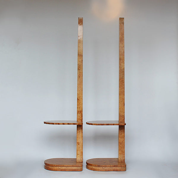 Epstein Art Deco side table floor lamps circa 1930