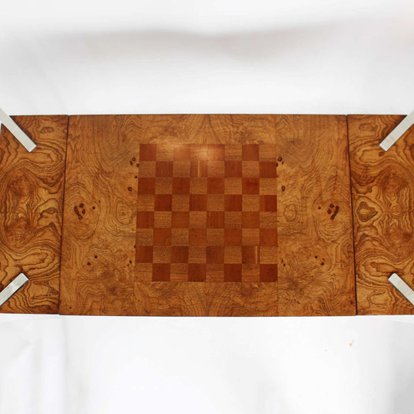 vintage wood and lucite games table