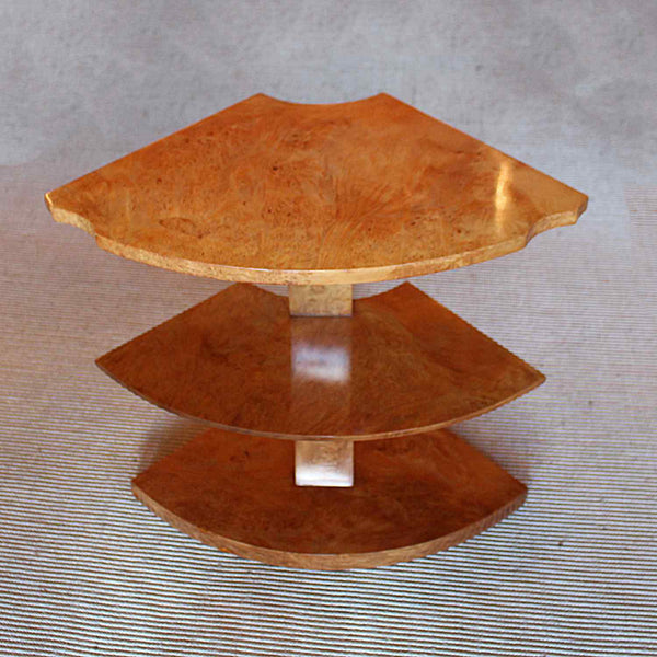 An Art Deco nest of tables by Harry & Lou Epstein in Walnut. Circa 1930