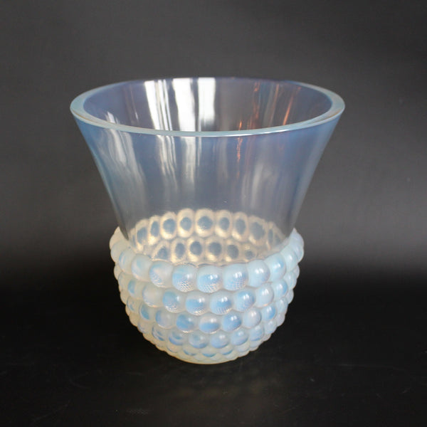 Rene Lalique Art Deco opalescent glass vase Graines circa 1935