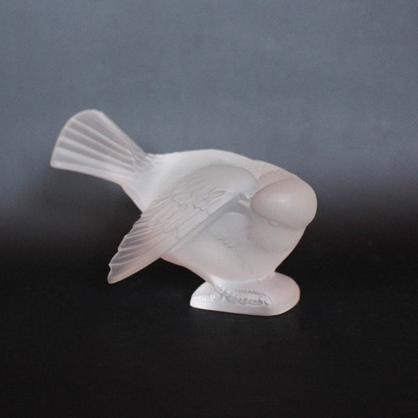 Rene Lalique Art Deco Moineau Coquet glass paperweight at Jeroen Markies