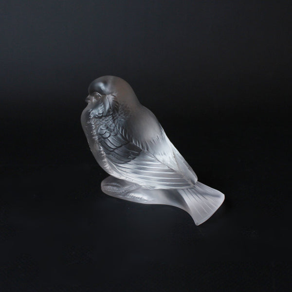 Art Deco Lalique glass bird paperweight Moineau Fier circa 1930 at Jeroen Markies