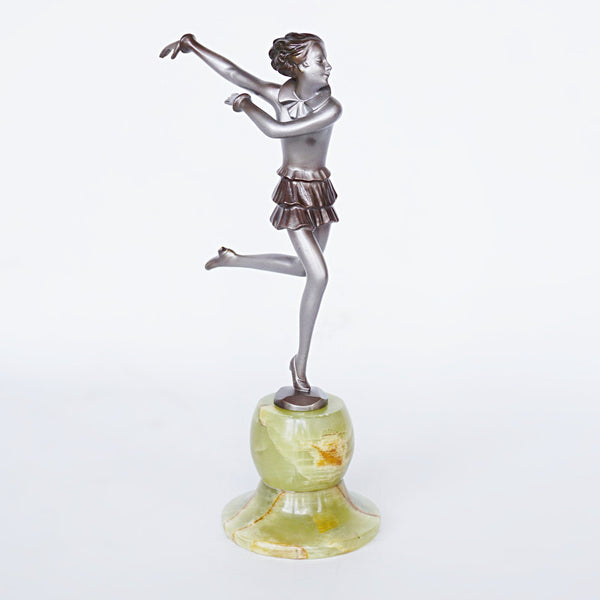 Josef Lorenzl Running Girl Bronze Sculpture Jeroen Markies Art Deco