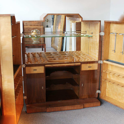 Maurice Adams Art Deco Cocktail cabinet at Jeroen Markies