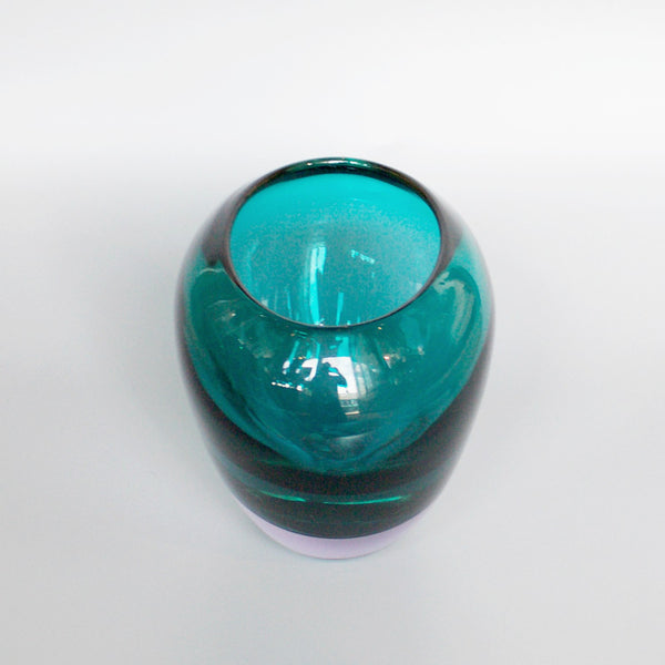 Ars Cenedese Lavender and Green Glass Vase