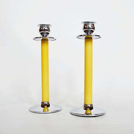 Pair of Silver Candlesticks