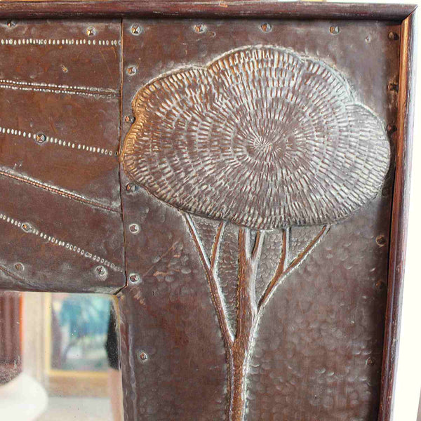 John Pearson Arts & Crafts copper framed mirror at Jeroen Markies
